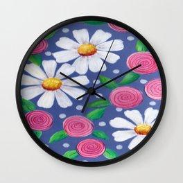Daisey Pattern Wall Clock