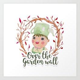 Over the garden wall Watercolor Art Print