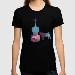 Viola pug art T-shirt