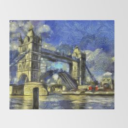 Tower Bridge and the Waverley Art Throw Blanket