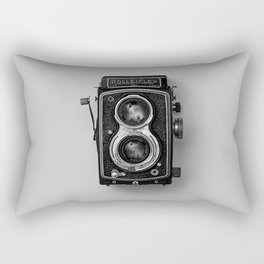 Old Camera (Black and White) Rectangular Pillow