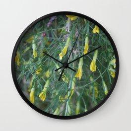 Weeping Caragana Flowers Wall Clock