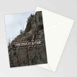 Hiking Sport One Step At A Time Stationery Cards
