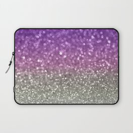Lilac and Gray Laptop Sleeve