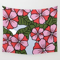 scandinavian Wall Tapestries featuring Scandinavian Garden by She's That Wallflower