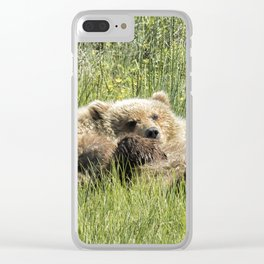 Counting Salmon - Bear Cubs, No. 3 Clear iPhone Case