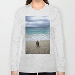 The blue sea Long Sleeve T-shirt
