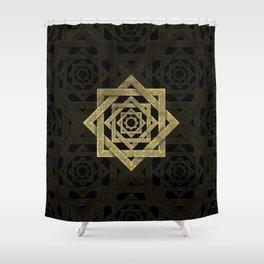 Golden Star of Lakshmi - Ashthalakshmi Shower Curtain