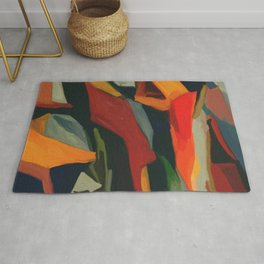 Lessons To Learn Abstract Landscape Rug