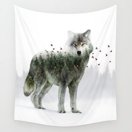 Wild I Shall Stay | Wolf Wall Tapestry