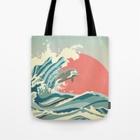 dolphin happiness Tote Bag