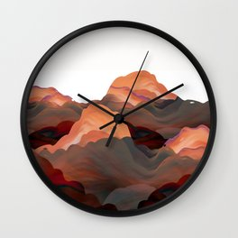 """""""Coral Mountains"""" Wall Clock"""