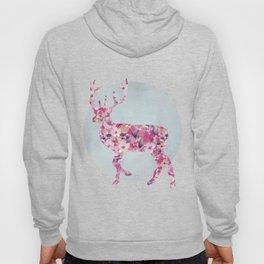 Flower Deer and circle pastel blue pink colors Hoody