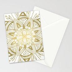 Mandala - Gold Stationery Cards