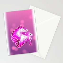 Pink Betta Stationery Cards
