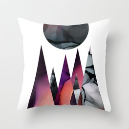 The lonely bluff Throw Pillow