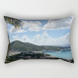 Overlooking the Port at Charlotte Amalie Rectangular Pillow