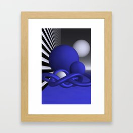 knots and spheres - blue Framed Art Print
