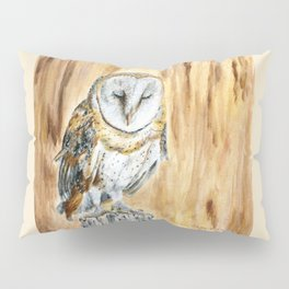 Sleeping Willow-Young Barn Owl by Teresa Thompson Pillow Sham