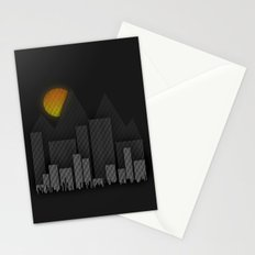Heat Behind The Mountains Stationery Cards