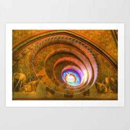 The Round Window Mathias Church Budapest Art Print