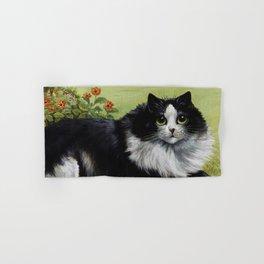 Black & White Kitty - Louis Wain Cats Hand & Bath Towel