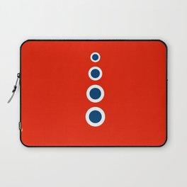 Retro Circles Pop Art - Red White Blue Series Laptop Sleeve