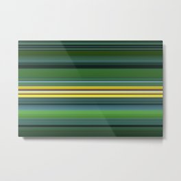 The Yellow Line Metal Print
