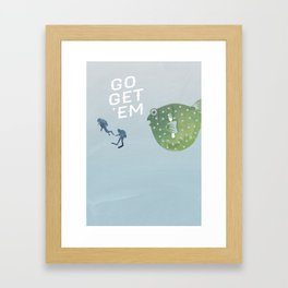 Go Get 'Em (Hungry Blowfish) Framed Art Print