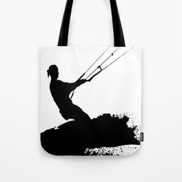 Wakeboarder Lets Go Fly A Kite Silhouette Tote Bag