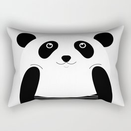 Calendar for 2017 with sweet panda Rectangular Pillow