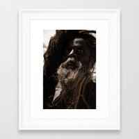 hindu Framed Art Prints featuring Hindu Shadu by Miguel Pastor