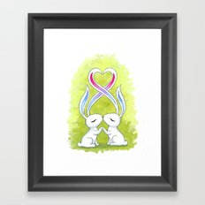 Bunny Kiss Framed Art Print