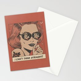 I can't think straight! Stationery Cards