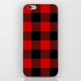 Red Lumberjack Pattern iPhone Skin