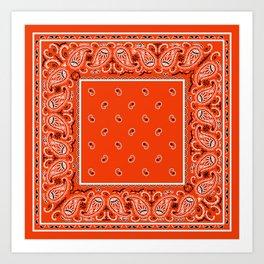 Classic Orange Bandana Art Print