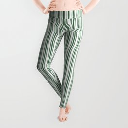 Classic Small Green Boot Green French Mattress Ticking Double Stripes Leggings