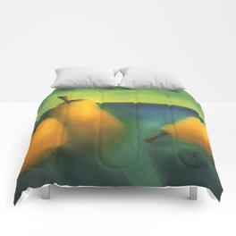 watercolor pears Comforters