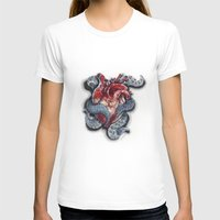 cthulu T-shirts featuring Cthulhu Heart by lunaevayg