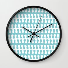 Seaweed Strand blue & white Wall Clock