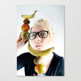 A good Food ballance is like math to a geek.... Canvas Print
