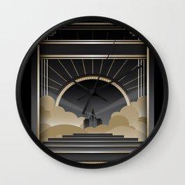 Art deco design V Wall Clock