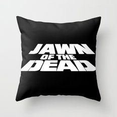 Jawn of the Dead Throw Pillow