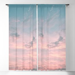 Pink and Blue Skyscape Blackout Curtain