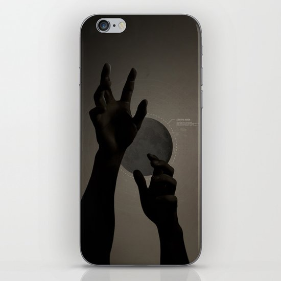 Hand's on the Moon iPhone Skin