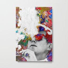 John F Kennedy Cigar And Sunglasses Colorful Metal Print