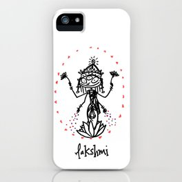 Lakshmi: Goddess of Abundance iPhone Case