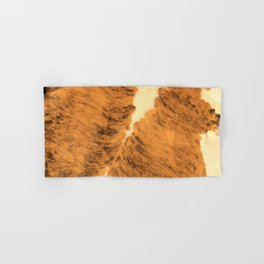 Burnt Orange Texas Longhorn Animal Leather Pattern Hand & Bath Towel