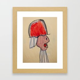 Profile of an Italian Count Framed Art Print