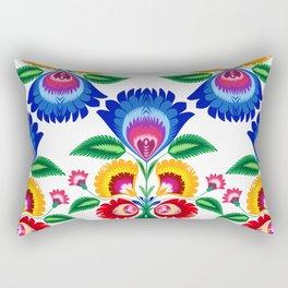 folk flower Rectangular Pillow